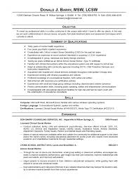 sample resumes msw resume examples resume letter sample resumes
