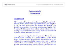 autobiography essay example for college autobiographical essay example