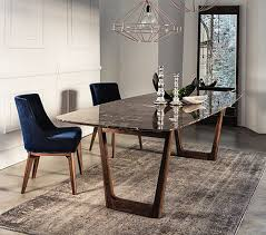 dining table interior design kitchen: dining table with emperador marble top and walnut base