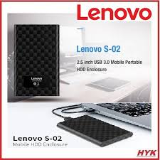 <b>Lenovo S-02 2.5 inch</b> USB3.0 Portable Mobile HDD Enclosure-Black