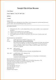 electrician resume example cv template  tomorrowworld coelectrician resume example cv