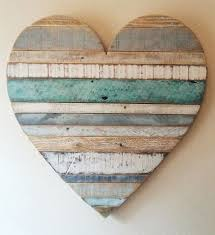 rustic reclaimed wood heart large wood heart beach cottage heart vintage look pallet wood barn style beach cottage decor valentines beach office decor