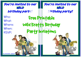 printable wild kratts birthday party invitation suzy wild kratts birthday party invitation 1