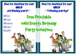 printable wild kratts birthday party invitation suzy wild kratts birthday party invitation 1