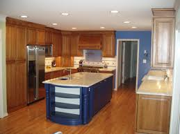 wooden kitchen cabinet unstained white countertop