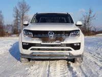 <b>Защита передняя нижняя</b> (двойная) 76,1/75 мм на Volkswagen ...