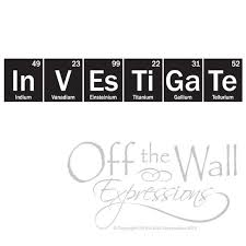 <b>Science Wall Decal Investigate-Periodic</b> Table sticker | Etsy