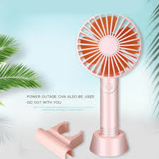 Mini Fan USB <b>Rechargeable</b> Portable Handheld Air Cooler Cooling ...