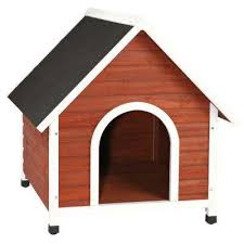 Dog Houses   Dog Carriers  Houses  amp  Kennels   Dog Supplies   Pet    Nantucket Large Dog House in Brown White
