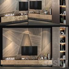 3d models: <b>TV Wall</b> - <b>TV wall set</b> 140 in 2020 | Wall tv <b>unit</b> design, Tv ...