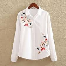 Embroidery White Cotton Shirt <b>2018 Autumn New Fashion</b> Women ...