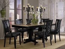 black kitchen dining sets: luxury kitchen dining furniture sets with black dinett sets and gold marble top table plus candle