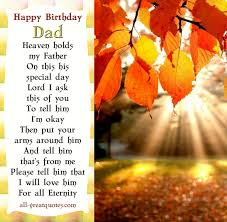 Happy Birthday Dad - In Loving Memory Cards For Dad via Relatably.com