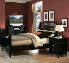 bedroom splendid black side table and nice black wooden bed idea for traditional dark red black furniture wall color