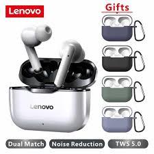 NEW <b>Lenovo LP1 Wireless</b> Earphone <b>Bluetooth</b> 5.0 Dual Stereo ...