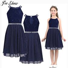 6 14T Teen <b>Girls</b> Sleeveless <b>Sequined</b> Floral Lace Shiny Dress ...