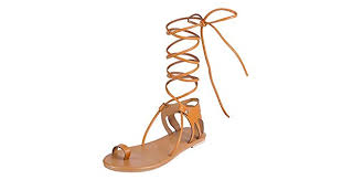 China Koi <b>Lace</b>-<b>Up Rome</b> Sandals <b>Women's</b> Summer <b>Lace</b>-<b>Up</b> Flat ...