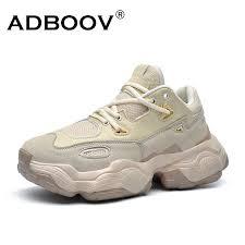 ADBOOV <b>2019 New Genuine</b> Leather Sneakers Men <b>Women</b> Plus ...