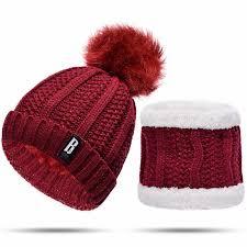 [Lakysilk]Hand Made <b>Winter Scarf</b> With Hat Set <b>Women</b> Ladies ...
