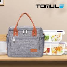 <b>TOMULE</b> Portable <b>Lunch</b> Bag <b>Thermal Insulated</b> Cooler Bag Picnic ...
