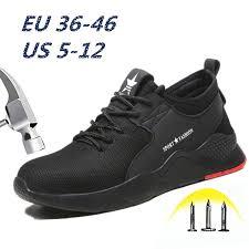 <b>Fashion Safety</b> Shoes Unisex Work Shoe Breathable Sports Shoe ...