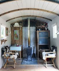 tiny living room of refurbished railway wagon home design ryland peters small chic small white home