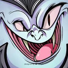Happy <b>halloween</b> background with <b>evil vampire</b> face Vector   Free ...