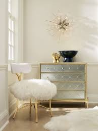 hollywood regency ivory linen upholstered dining bench