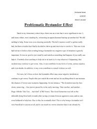 bystander effect essay bystander effect the bystander effect my bystander effect essay