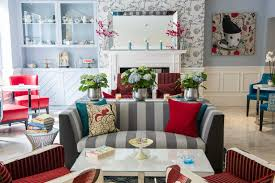home accents interior decorating:  variety of pattern and bright accents add a touch of whimsy