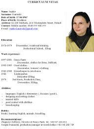 academic curriculum sample vitae cv examples   curriculumvitae    cv english example resume