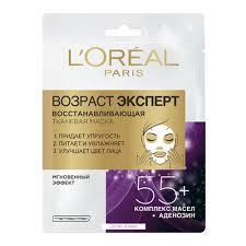 <b>Тканевая маска</b> для лица <b>L'OREAL PARIS</b> Возраст Эксперт 55+, 1 ...