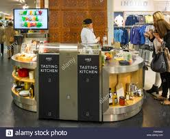 kitchen items store: marks amp spencer in store tasting kitchen where customers may taste items from the food store