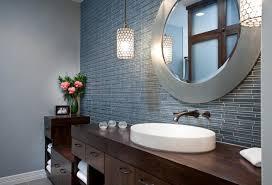 framed oval home depot bathroom mirrors above single sink bathroom vanity under two pendat lamps bathroom vanity mirror pendant lights glass