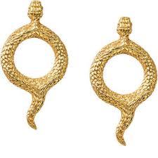Natia x Lako <b>Позолоченные</b> серьги-кольца со змеями - GLAMI.ru