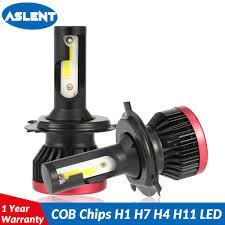 <b>Aslent</b> 2PCs <b>Mini led H7</b> H4 <b>LED</b> Bulb Car Headlight H11 H1 H8 H9 ...