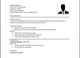 resume example   resume template simple examples of a easy resume    quote of  simple resume format