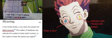 let me try again a little more specificity what if anything let me try again a little more specificity what if anything does hisoka s star stand for