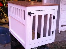 large wooden dog crate end table furniture style dog crates