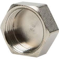 """<b>Заглушка</b> Valtec, внутренняя резьба, <b>3/4</b>"""", никелированная латунь"""