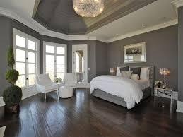 gray painted bedroom
