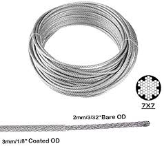 TooTaci <b>Garden Wire</b>/<b>Cable</b> Railing Kits Include 100ft Stainless Steel...