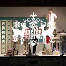 3d removable waterproof merry christmas deer <b>carving</b> wall window ...