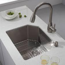 undermount kitchen sink stainless steel: kraus  inch undermount single bowl  gauge stainless steel kitchen sink with noisedefendamp