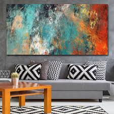 <b>Large Size Wall</b> Pictures For Living Room Home <b>Decor</b> Abstract ...