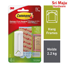 MAJU <b>3M Command 17041</b> 2.2kg Wire Back Hang Picture Hanging ...