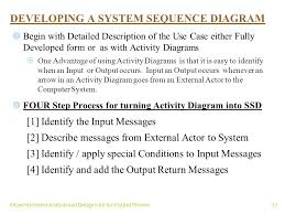 object oriented analysis and design with the unified process     object oriented analysis and design   the unified process developing a system sequence diagram 