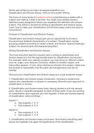 classification sample essay term paper help classification sample essay