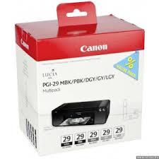 <b>Картридж</b> струйный <b>Canon PGI</b>-<b>29</b> MBK/PBK/DGY/GY/LGY 5 ...