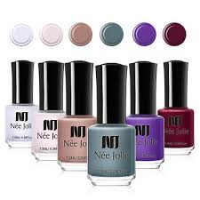 <b>NEE JOLIE</b> Pashm Matte Series Nail Polish 7.5ml Pink Purple Nail ...